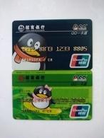 China, Transparent Card,  (2pcs) - Cartes De Crédit (expiration Min. 10 Ans)