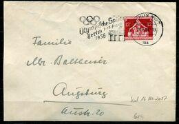 "German Empires 1936 Beschn.Bedarfsbrief/Cover  Mit Mi.Nr.619 EF U.MWST""Berlin NW7-Olympische Spiele 36""1 Beleg - Sommer 1936: Berlin"