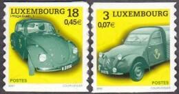 Luxembourg N° 1487 Et 1488 ** Transport Voitures. Citröen 2 Ch Et Wolkswagen Coccinelle - Neufs