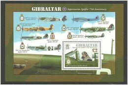 Gibraltar 2011 75 Years Of Spitfire Aircraft, Planes, Mi Bloc 103 MNH(**) - Gibraltar