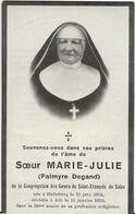 DP. SOEUR MARIE JULIE (PALMYRE DEGAND) ° HELLEBECQ 1854- + ATH 1939 - Religion & Esotérisme
