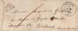 1848 Rare Enveloppe + Lettre De BOLLENE Pour TOULOUSE En PORT PAYE 6 Au Verso - Postmark Collection (Covers)