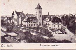 Sehr Seltene ALTE  Mini- AK   ZÜRICH / Schweiz  - Landesmuseum -  Ca. 1900 - ZH Zurich