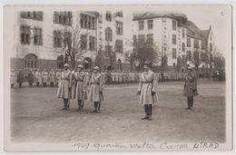 Carte Photo : Présentation Des Armes Au Quartier Walter De Colmar (68) 4ème RAD  ?  152ème RI En 1929 - War, Military