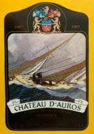 15457 - Château D'Auros 1987 Bordeaux Réserve Des Navigateurs - Zeilboten & Zeilschepen