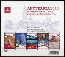 BLOK 153** Antverpia - Actief Antwerpen Met 3767/71** Anvers Ville Active - Europees Kampioenschap Filatelie - Bloques 1962-....