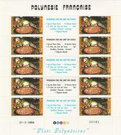 LOT 2058 POLYNESIE N°261-262 FEUILLE DE 10 EX ** - French Polynesia