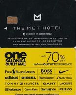 GREECE(chip) - The Met(reverse ONE Salonica Outlet Mall 1), Hotel Keycard, Used - Chiavi Elettroniche Di Alberghi