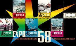 """Blok 158** """"Wereldtentoonstelling Te Brussel, Expo '58, Atomium""""- Bloc 158** MNH 3804/08** - Bloques 1962-...."""