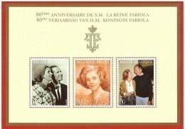 Blok 156** Koningin Fabiola En Koning Boudewijn 3787/89** - Bloc 156** Reine Fabiola Et Roi Baudouin - BF 156**MNH - Bloques 1962-....