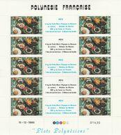 LOT 2059 POLYNESIE N°278-279 FEUILLE DE 10 EX ** - French Polynesia