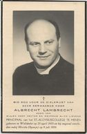DP. E.H. ALBRECHT LAMBRECHT ° WIELSBEKE 1915- + MERIDA (SPANJE) 1959 - Religion & Esotérisme