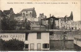 D60  CREIL  Un Coin De L' Ile Après Le Passage Des Allemands  ..... - Creil