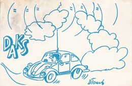 QSL CARD  --  CROATIA,  YUGOSLAVIA  --   VW KAFER  --   DAKS, STEFANJE - Cartes QSL