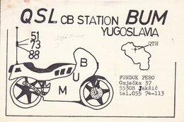 QSL CARD  --  CROATIA,  YUGOSLAVIA  --   BUM, 55308 JAKSIC - Cartes QSL
