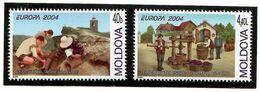 Moldova 2004 . EUROPA 2004. 2v: 40b, 4.40L. Michel # 487-88 - Moldavia