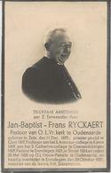 DP. E.H. JAN-BAPTIST - FRANS RYCKAERT ° ZELE 1873 - + ERONDEGEM 1935- PASTOOR O.L.VR. KERK TE OUDENAARDE - Religion & Esotérisme
