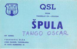 QSL CARD  --  CROATIA,  YUGOSLAVIA  --   SPULA, ZAGREB - Cartes QSL