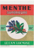 AN 1239  / ETIQUETTE       MENTHE SUPERIEURE  LE CAM  LOCMINE - Otros