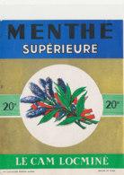 AN 1240  / ETIQUETTE       MENTHE SUPERIEURE  LE CAM  LOCMINE - Otros