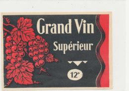 AN 1245  / ETIQUETTE     -   GRAND VIN SUPERIEUR - Otros