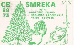 QSL CARD  --  CROATIA,  YUGOSLAVIA  --  SMREKA, SOBLINEC - Cartes QSL