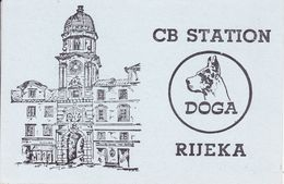 QSL CARD  --  CROATIA,  YUGOSLAVIA  --  DOGA, RIJEKA - Cartes QSL
