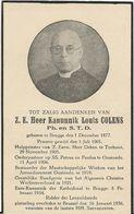 DP. Z.E. KANUNNIK LOUIS COLENS ° BRUGGE 1877 - + BRUSSEL 1936 - Religion & Esotérisme