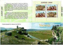 Moldova 2004 . EUROPA 2004. Booklet Of 4 (2 Sets In Chess Order).  Michel # 487-88 MH - Moldavia