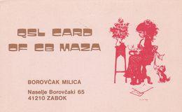 QSL CARD  --  CROATIA,  YUGOSLAVIA  --  MAZA, ZABOK - Cartes QSL