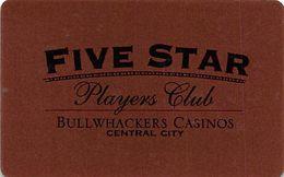 Bullwhackers Casino - Central City, CO - BLANK Slot Card   ...[RSC]... - Carte Di Casinò
