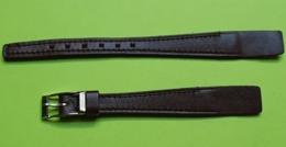BRACELET Pour Montre Ancienne -Box Sur Cuir Brun-Boucle Argentée- Taille 12 -Longueur Total 16.5 Cm- NEUF De Stock- 1950 - Watches: Old