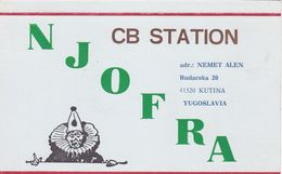 QSL CARD  --  CROATIA,  YUGOSLAVIA  --   NJOFRA, KUTINA - Cartes QSL