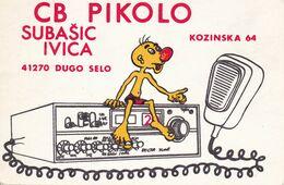 QSL CARD  --  CROATIA,  YUGOSLAVIA  --   PIKOLO, DUGO SELO - Cartes QSL