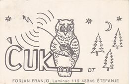 QSL CARD  --  CROATIA,  YUGOSLAVIA  --   CUK, STEFANJE - Cartes QSL