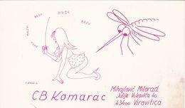 QSL CARD  --  CROATIA,  YUGOSLAVIA  --   KOMARAC, VIROVITICA - Cartes QSL