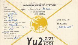 QSL CARD  --  CROATIA,  YUGOSLAVIA  --   KRESTALICA, GLINA - Cartes QSL