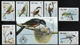 1986 Vietnam STOCKHOLMIA: Birds Set And Souvenir Sheet (** / MNH / UMM) - Passereaux