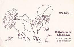 QSL CARD  --  CROATIA,  YUGOSLAVIA  --   DIMI, PITOMACA - Cartes QSL