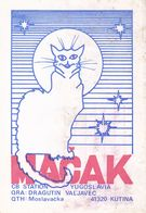 QSL CARD  --  CROATIA,  YUGOSLAVIA  --   MACAK, KUTINA - Cartes QSL