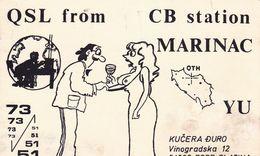 QSL CARD  --  CROATIA,  YUGOSLAVIA  --   MARINAC, PODRAVSKA SLATINA - Cartes QSL
