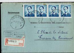Doc. De TOURNAI - F X F - Du 04/08/67 (déposé Au Guichet Spécial (bilingue)  En Rec. ( E ) - Postmark Collection