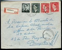 Doc. De TOURNAI - F 1 F - Du 27/01/53  En Rec. ( E ) - Postmark Collection