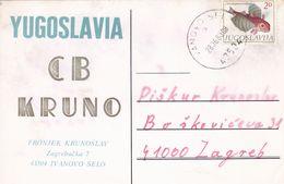 QSL CARD  --  CROATIA,  YUGOSLAVIA  --   KRUNO FRONJEK, IVANOVO SELO - Cartes QSL