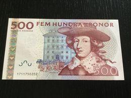 SWEDEN 500 KRONOR BANKNOTE 2001 AUNC - Sweden