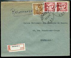 Doc. De TOURNAI - E 3 E - Du 09/02/57 En Rec. - Postmark Collection