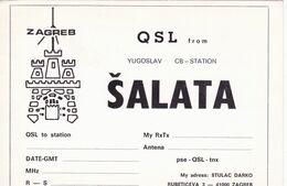 QSL CARD  --  CROATIA,  YUGOSLAVIA  --   SALATA, ZAGREB - Cartes QSL