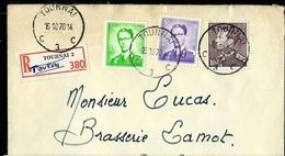 Doc. De TOURNAI - C 3 C - Du 16/10/70 En Rec. - Postmark Collection