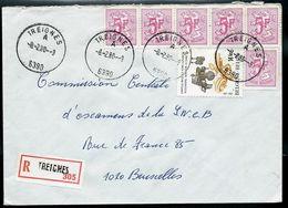 Doc. De TREIGNES - A - ( 6390 ) Du 08/02/90 En Rec. - Postmark Collection