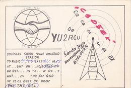 QSL CARD  --  CROATIA,  YUGOSLAVIA  --   YU2 RCU, BJELOVAR - Cartes QSL